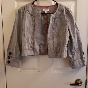 Loft Shrug Coat Top Blue & White Size 6